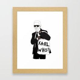 Karl Framed Art Print