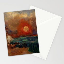 """Odilon Redon """"Saint George and the Dragon (Saint Georges et le dragon)"""" Stationery Cards"""