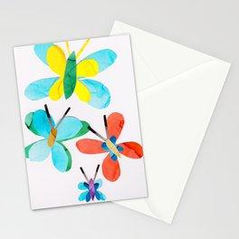Blue Butterfly Collage, Flutterbye Stationery Cards
