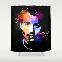 johnny depp Shower Curtains featuring Johnny Depp by BIG Colours