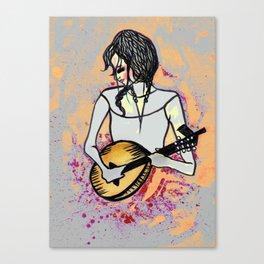 Girl with Mandolin Canvas Print