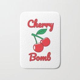 Cherry Bomb Retro Vintage Old Style design Bath Mat