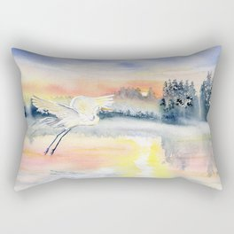 Flying in The Dawn Rectangular Pillow