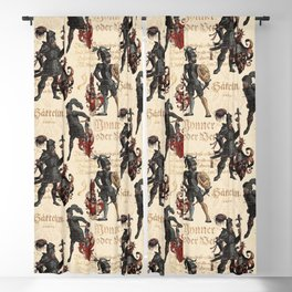 Medieval Knights in Shining Armor Blackout Curtain