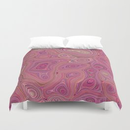 Mineralicious-Pink Agate Duvet Cover