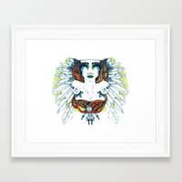 indie Framed Art Prints featuring Indie by chiara costagliola