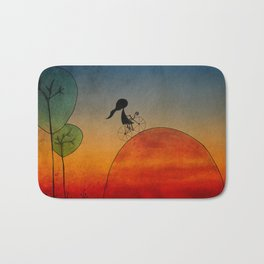 Into the sunset Bath Mat
