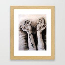 hands of creation Framed Art Print
