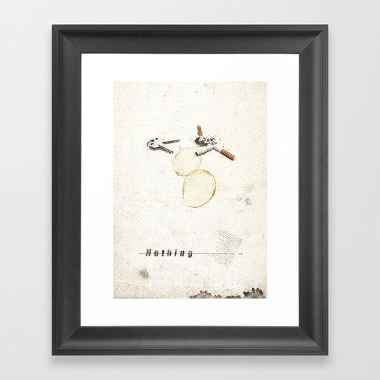 Nothing (...) | Collage Framed Art Print