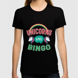 Unicorn And Bingo Gift T-shirt