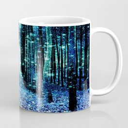 Magical Forest Teal Turquoise Coffee Mug