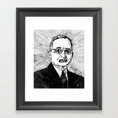 33. Zombie Harry S. Truman  Framed Art Print