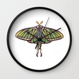 Spanish Moon Moth (Graellsia isabellae) Wall Clock