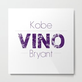 VINO (Purple) Metal Print