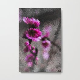 Pixeled Nature 4- Cherry Pink Metal Print