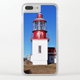 Lighthouse Cap-Chat Quebec Clear iPhone Case