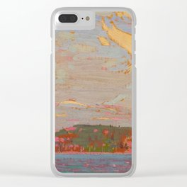 Tom Thomson View over a Lake, Autumn 1916 Canadian Landscape Artist Clear iPhone Case