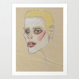 Yellow haired Boy Art Print