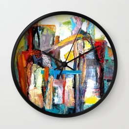Dance in color: Structure by Light Wall Clock