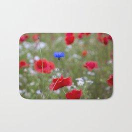 Spring Meadow Poppy Flowers full Bloom Bath Mat