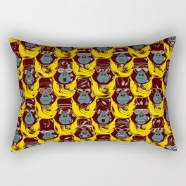 Gorillas & Bananas Rectangular Pillow