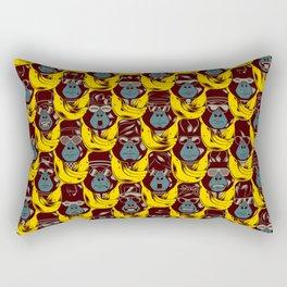 Gorillas & Bananas Rectangular Pillow