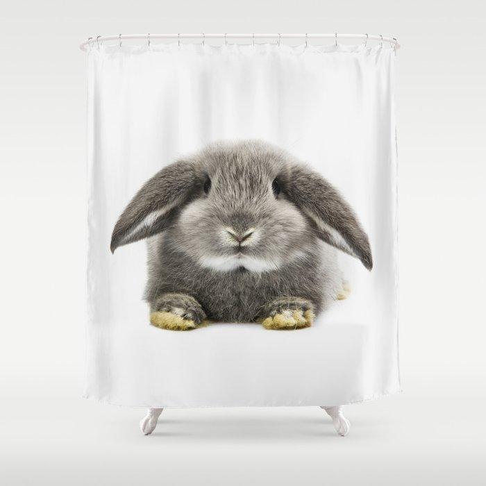 Bunny Rabbit Sitting Shower Curtain