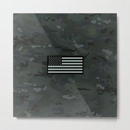 U.S. Flag: Black Urban Camouflage Metal Print