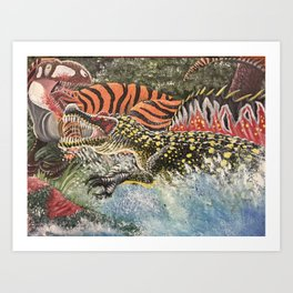 Rumble by the River Art Print