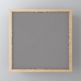 op art - circles Framed Mini Art Print