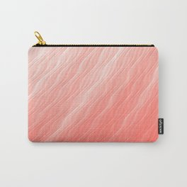 Living Coral Wavy Ombre Pattern Carry-All Pouch