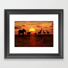 Savanne 2 Framed Art Print