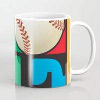 baseball Mugs featuring Love Baseball by Gary Grayson