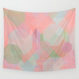 Hexagon, Square and Diamond Patterned Abstract Design Wall Tapestry