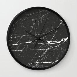Black & White Marble Wall Clock