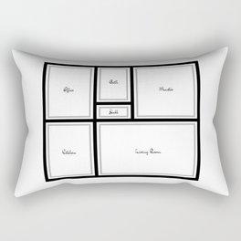 Little Apartment Plan Rectangular Pillow