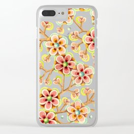Candy Apple Blossom Clear iPhone Case