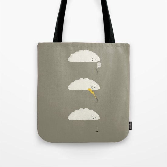 Cloud High Five Tote Bag