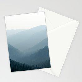 Mount Rainier Summer Adventure IV - Pacific Northwest Mountain Landscape Stationery Cards