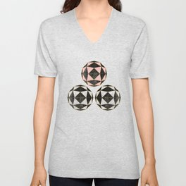 Geodesic Optic Roses Unisex V-Neck