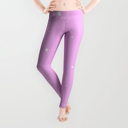 Bubblegum Pink Night Sky Leggings