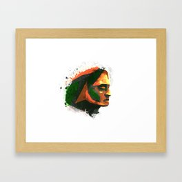 Eyes closed. Framed Art Print