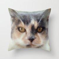 minnie Throw Pillows featuring Minnie by Teresa Pople