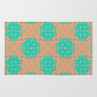 southwest Area & Throw Rugs featuring Southwest Summer by Lisa Argyropoulos