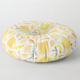 Pasta Pattern on White Floor Pillow
