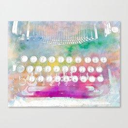 Watercolor typewriter Canvas Print