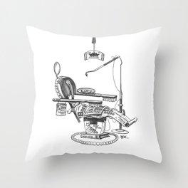 Dentist Chair Throw Pillow