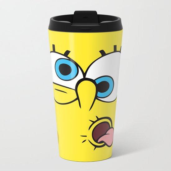 Spongebob Crazy Face Metal Travel Mug