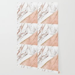 Marble rose gold blended Wallpaper