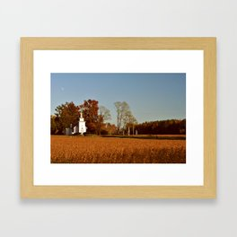 Little White Church  Framed Art Print